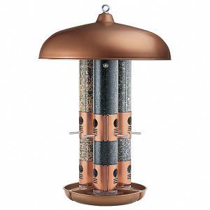 Perky Pet triple tube copper bird feeder
