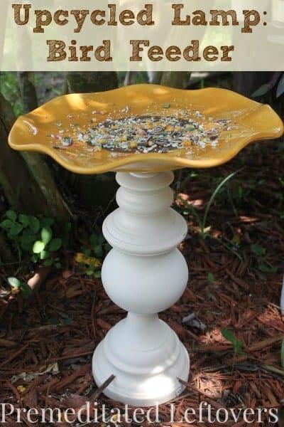 diy cardinal bird feeder