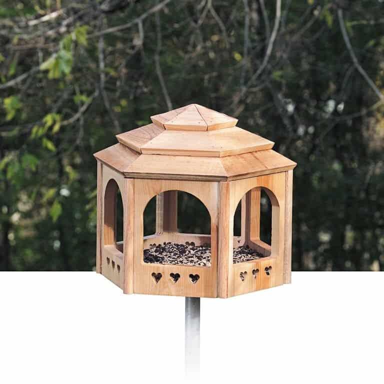 wooden gazebo diy cardinal bird feeder